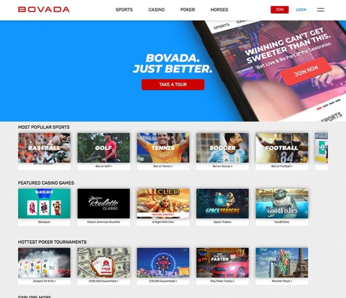 Screenshot Bravado Homepage